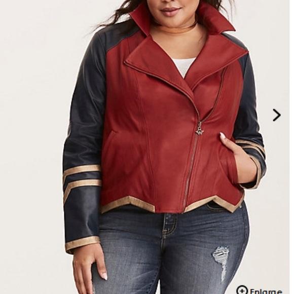 d108c831fbd NWT torrid size 2 Wonder Woman Moto Jacket